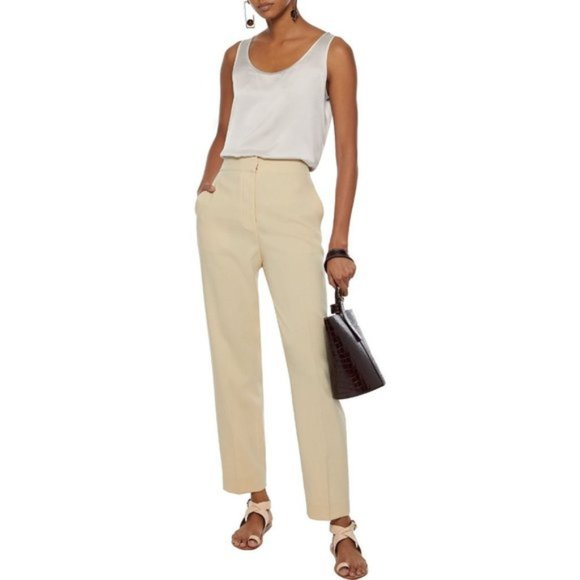 MaxMara Weekend | Flat front trousers stone grey
